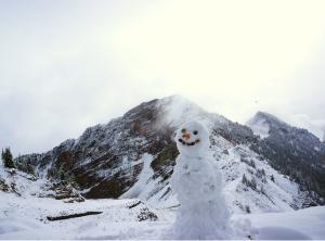 The snow is falling at Kicking Horse Mountain Resort! This image was taken on September 6.