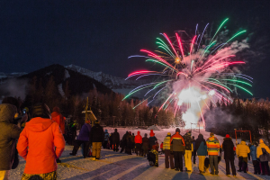 New Years Fireworks, Fernie Alpine Resort - 31 December 2014