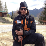 Sean and 8 week old taber, training to hopefully be our new avalanche dog
