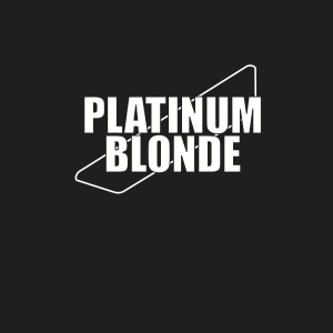 Platinum Blonde logo (Silver & Black)