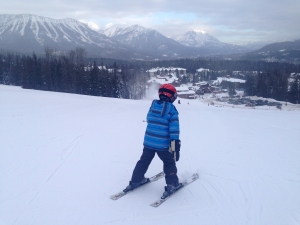 Skiing on lower slopes