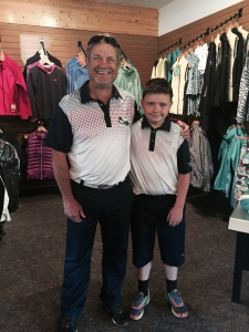 Father/son golfing at Trickle Creek Golf Resort in Kimberley, B.C