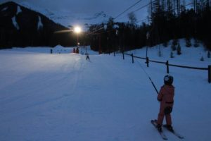 Night skiing on the Mighty Moose